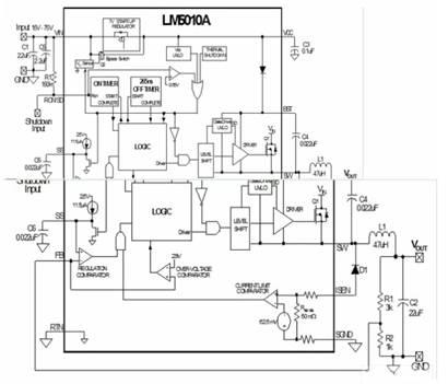cot稳压器框图和典型应用电路