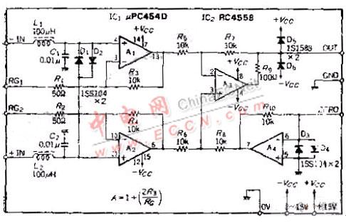 电桥电路(应变仪,半导体压力传感器等)