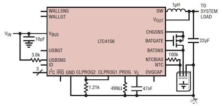 管理器,理想二极管控制器和磷酸铁锂 (lifepo4)  电池充电器,适用于
